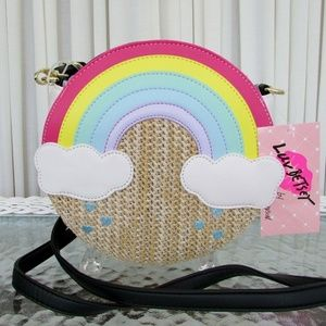Betsy Johnson LBCLOUD Weave the Rainbow purse